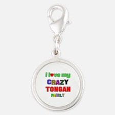 I love my crazy Tongan family Silver Round Charm