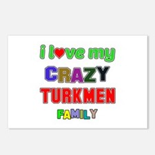 I love my crazy Turkmen f Postcards (Package of 8)