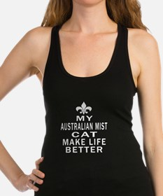 Australian Mist Cat Make Life B Racerback Tank Top