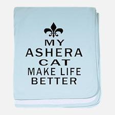 Ashera Cat Make Life Better baby blanket