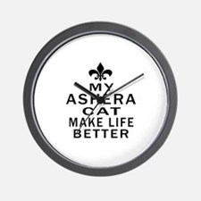 Ashera Cat Make Life Better Wall Clock