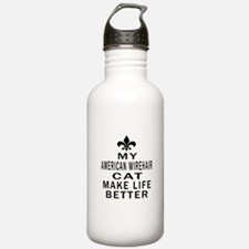 American Wirehair Cat Water Bottle