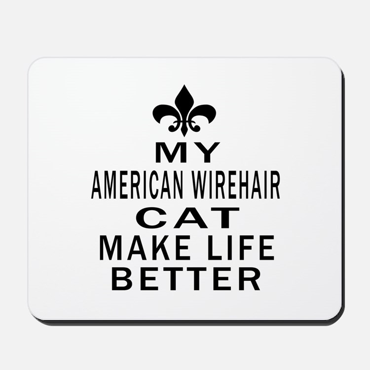 American Wirehair Cat Make Life Better Mousepad
