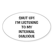 Internal Dialogue Oval Decal