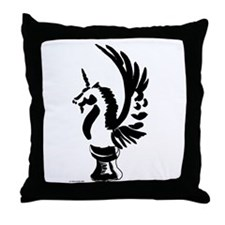 Unicorn Knight Throw Pillow