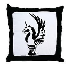 Unicorn Knight Throw Pillow