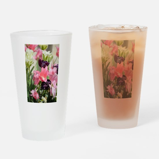 Spring Blooms Drinking Glass