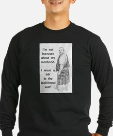 Traditional Kilt Wearing Man Long Sleeve T-Shirt