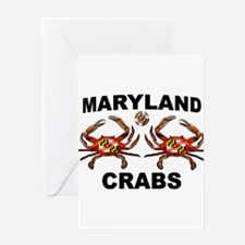 MARYLAND CRABS Greeting Cards
