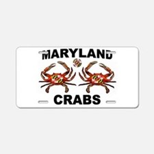 MARYLAND CRABS Aluminum License Plate