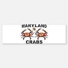 MARYLAND CRABS Bumper Bumper Bumper Sticker