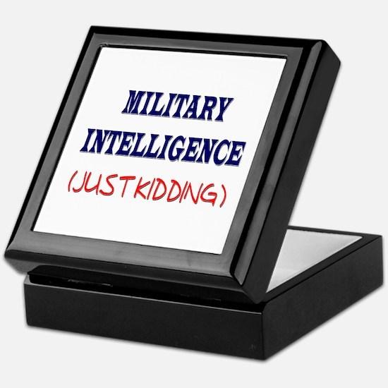 Military Intelligence (Just Kidding) Keepsake Box