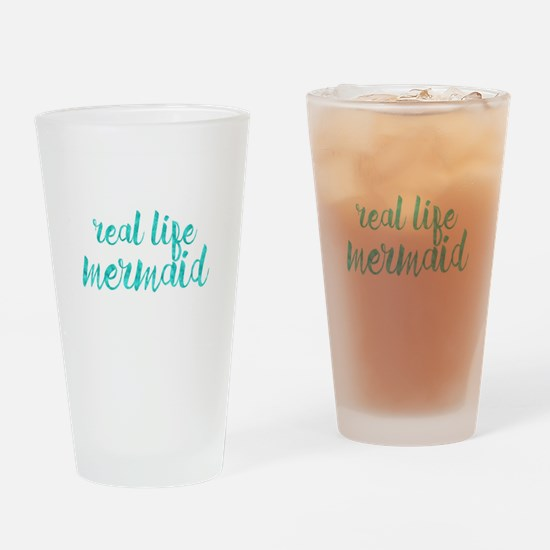 real life mermaid Drinking Glass