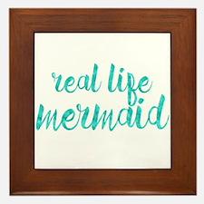 real life mermaid Framed Tile
