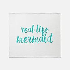 real life mermaid Throw Blanket