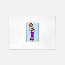 girl basketball 5'x7'Area Rug