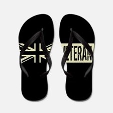 British Military: Veteran (Black Flag) Flip Flops