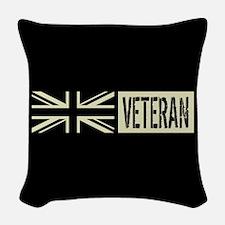 British Military: Veteran (Bla Woven Throw Pillow