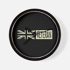British Military: Veteran (Black Flag) Wall Clock