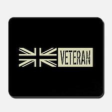 British Military: Veteran (Black Flag) Mousepad
