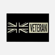 British Military: Veteran (Black Rectangle Magnet