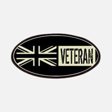 British Veteran Black Military Union Jack Fl Patch