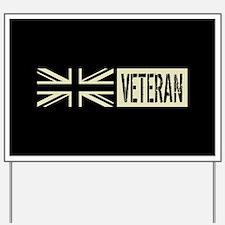 British Military: Veteran (Black Flag) Yard Sign
