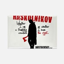 Raskolnikov. Crime and Punishment T-Shirt Magnets