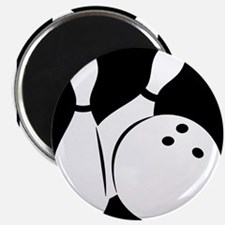black Bowling two pins & ball Magnets
