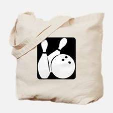 black Bowling two pins & ball Tote Bag