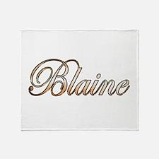 Gold Blaine Throw Blanket