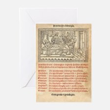 Italian book on surgery, 1514 Greeting Cards