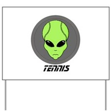 Tennis Alien Yard Sign