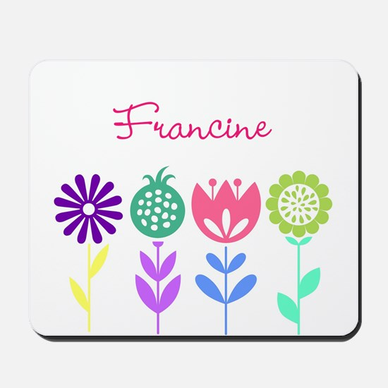 Personalized Spring Flowers Mousepad