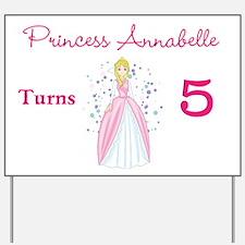 Princess Birthday Yard Sign