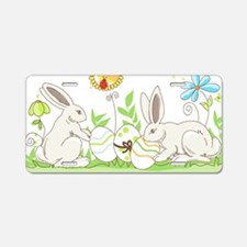 Easter Bunny Aluminum License Plate