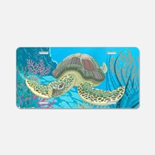 Sea Turtle Aluminum License Plate