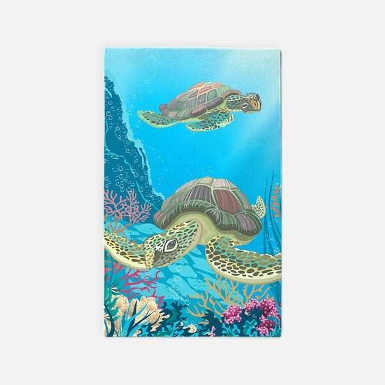 Sea Turtle Area Rug