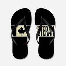 Canadian Military: Veteran (Black Flag) Flip Flops