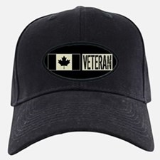 Canadian Military: Veteran (Black Flag) Baseball Hat