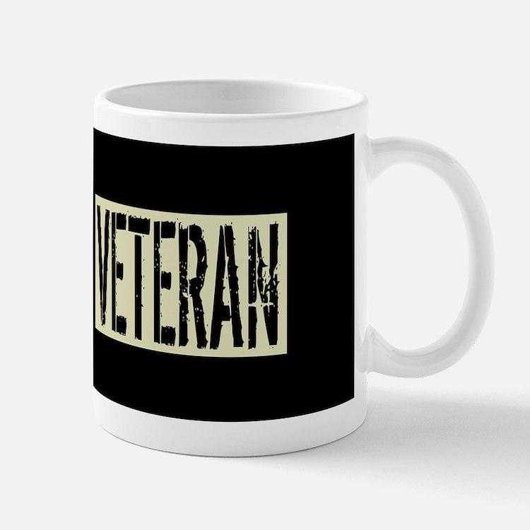 Canadian Military: Veteran (Black Flag) Mug