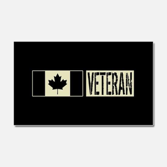 Canadian Military: Veteran (Bla Car Magnet 20 x 12