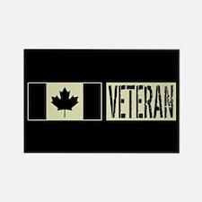 Canadian Military: Veteran (Black Rectangle Magnet