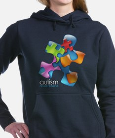 puzzle-v2-5colors-onblk. Women's Hooded Sweatshirt