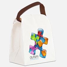 puzzle-v2-5colors.png Canvas Lunch Bag