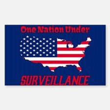 One Nation Under Surveillance Sticker (rectangle)