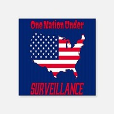 "One Nation Under Surveillan Square Sticker 3"" x 3"""