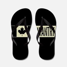 Canadian Military: Infantry (Black Flag Flip Flops