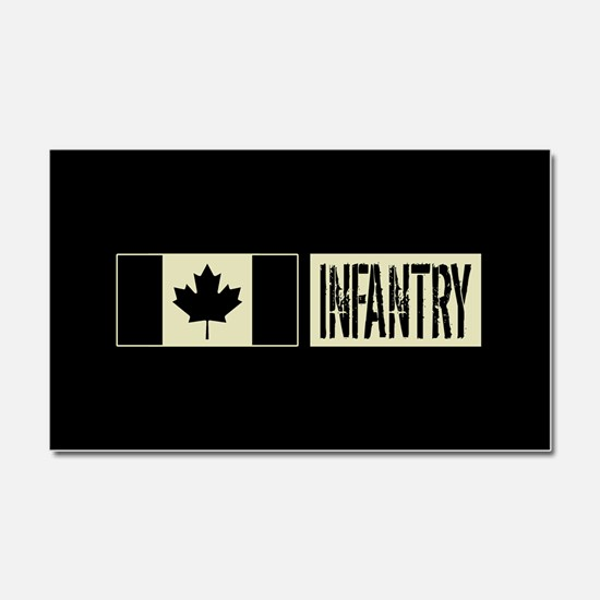 Canadian Military: Infantry (Bl Car Magnet 20 x 12