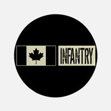 Canadian Military: Infantry (Black Flag) Button